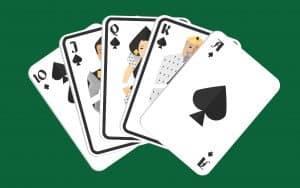 Mano de poker escalera real