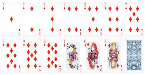 cartas de poker rojas