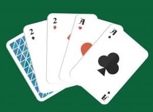 Mano de poker doble par