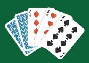 Mano de poker tercia
