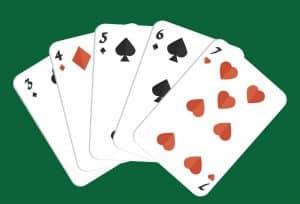 Mano de poker escalera