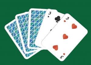 Mano de poker par